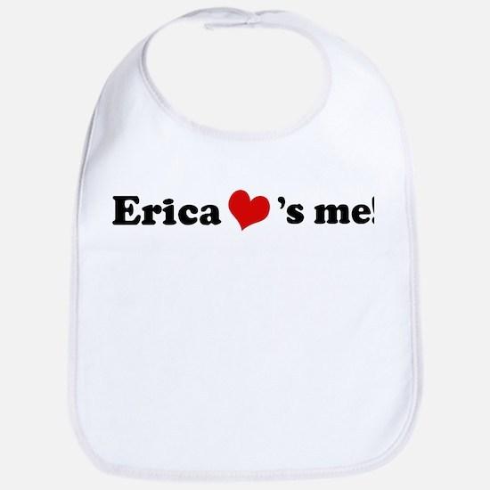 Erica loves me Bib