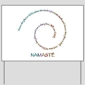 Meaning of Namaste Yard Sign