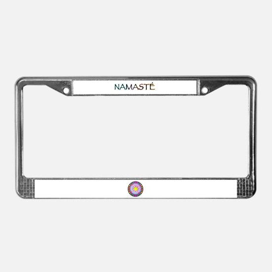 Meaning of Namaste License Plate Frame