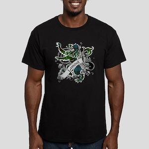 Lamont Tartan Lion Men's Fitted T-Shirt (dark)