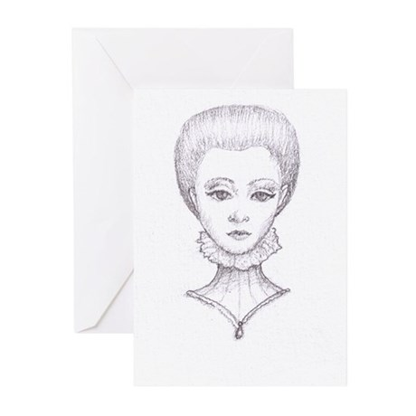 Girl with the Ruffled Collar Greeting Cards (Pk of