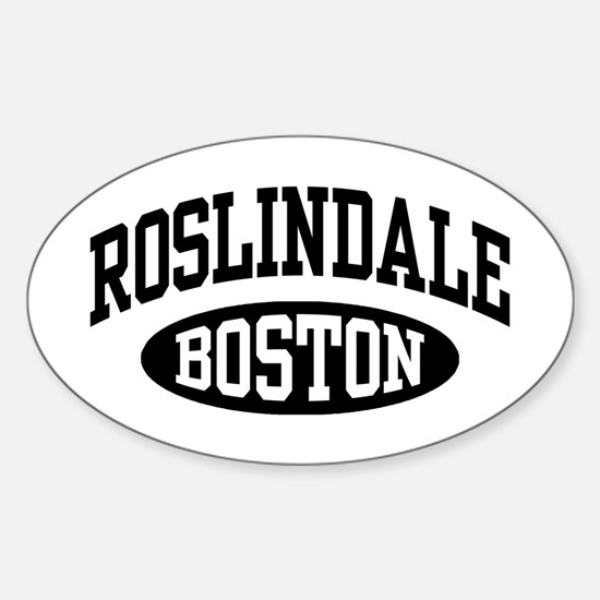Roslindale Boston Sticker (Oval)