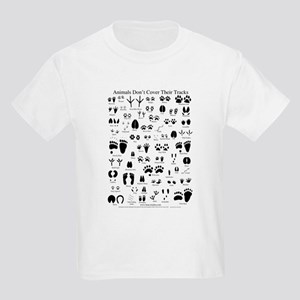 North American Animal Tracks Kids Light T-Shirt