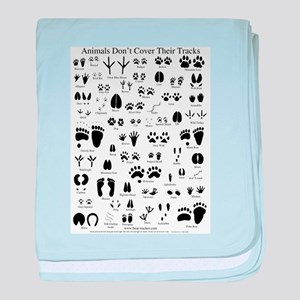 North American Animal Tracks baby blanket