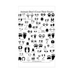 North American Animal Tracks Sticker (Rectangle 10