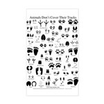 North American Animal Tracks Sticker (Rectangle)