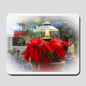Poinsetta Under Glass Mousepad
