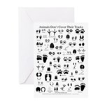 North American Animal Tracks Greeting Cards (Pk of