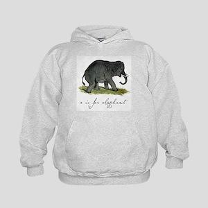 E is for Elephant Kids Hoodie
