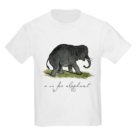 E is for Elephant Kids Light T-Shirt