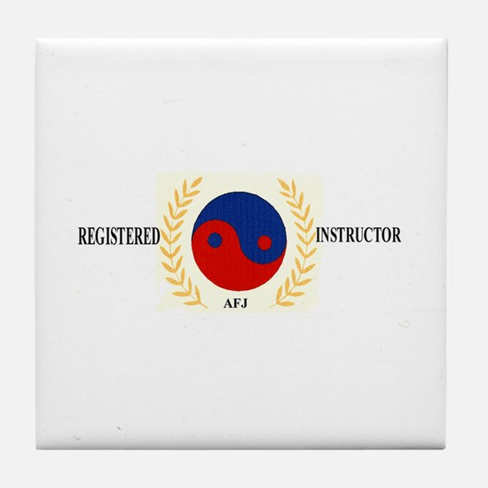 AFJ Instructor Tile Coaster