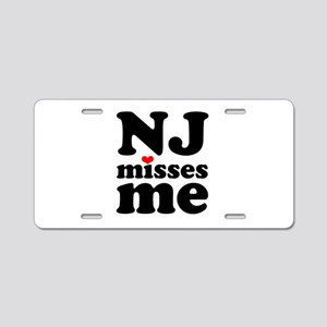 new jersey misses me Aluminum License Plate