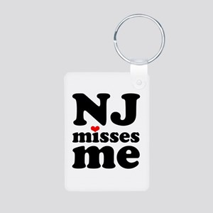 new jersey misses me Aluminum Photo Keychain