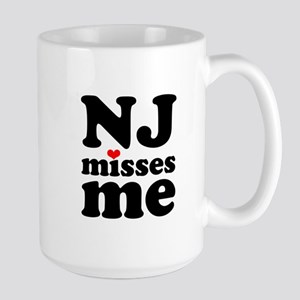 new jersey misses me Large Mug