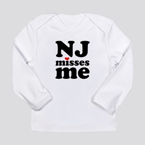 new jersey misses me Long Sleeve Infant T-Shirt