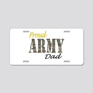 Proud army dad Aluminum License Plate