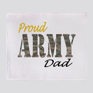 Proud army dad Throw Blanket