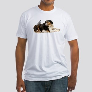 Quail Dog Fitted T-Shirt