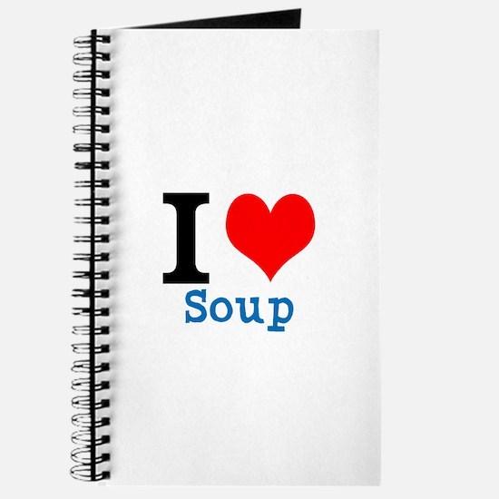 Unique I heart soup Journal