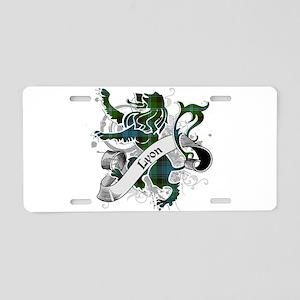 Lyon Tartan Lion Aluminum License Plate