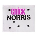 Chick Norris Throw Blanket