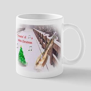 Dulcimers and White Christmas Mug