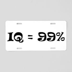 IQ = 99 Aluminum License Plate