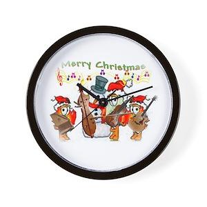 christmas music wall clocks cafepress - Musical Christmas Clock