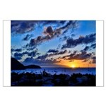 St. Lucia Sunset Large Poster
