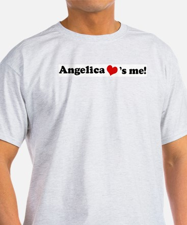 Angelica loves me Ash Grey T-Shirt