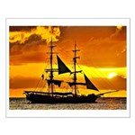 Caribbean Sunset Small Poster