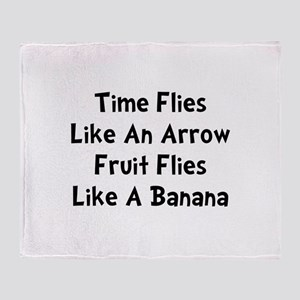 Fruit Flies Throw Blanket