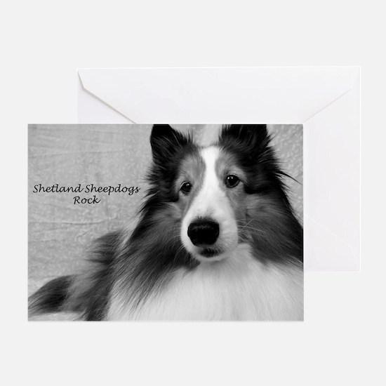 Shetland Sheepdogs Rock Greeting Card