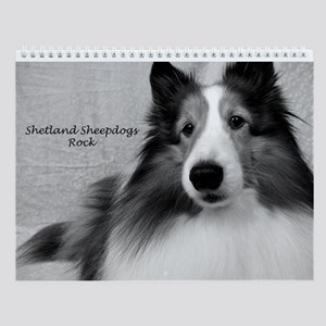 Shetland Sheepdogs Rock Wall Calendar