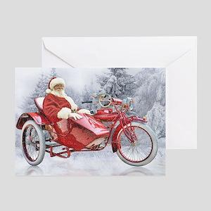 Biker Santa (pk Of 10) Greeting Cards