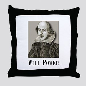 Will Power Throw Pillow