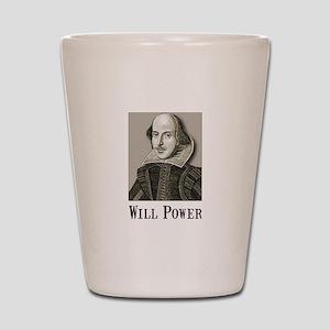 Will Power Shot Glass