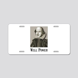 Will Power Aluminum License Plate