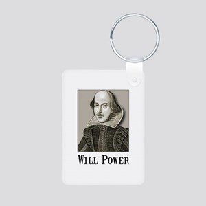 Will Power Aluminum Photo Keychain