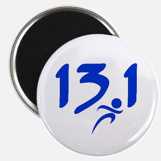 Blue 13.1 half-marathon Magnet