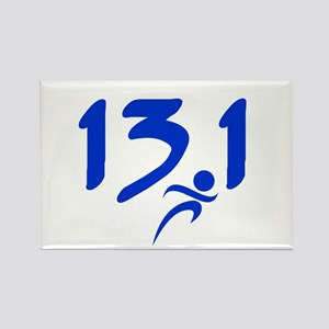 Blue 13.1 half-marathon Rectangle Magnet