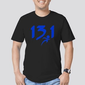 Blue 13.1 half-marathon Men's Fitted T-Shirt (dark