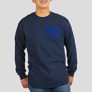 Blue 13.1 half-marathon Long Sleeve Dark T-Shirt