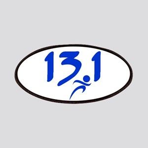 Blue 13.1 half-marathon Patches
