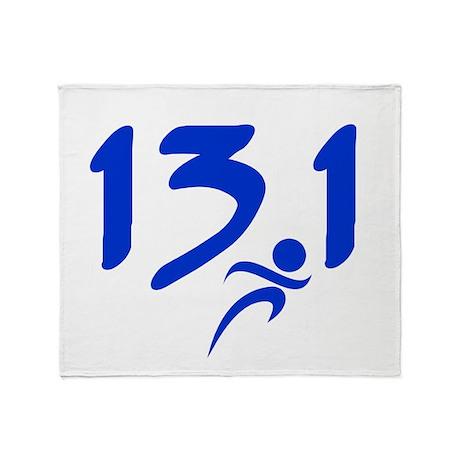 Blue 13.1 half-marathon Throw Blanket