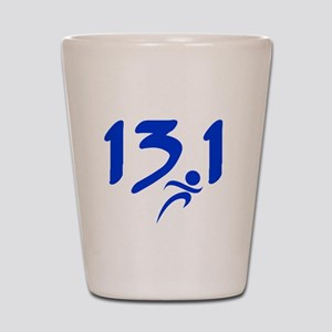 Blue 13.1 half-marathon Shot Glass