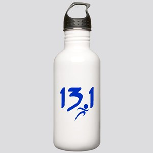 Blue 13.1 half-marathon Stainless Water Bottle 1.0