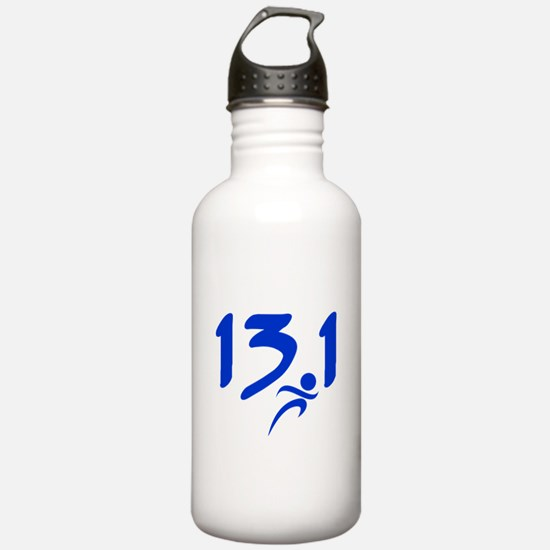 Blue 13.1 half-marathon Water Bottle