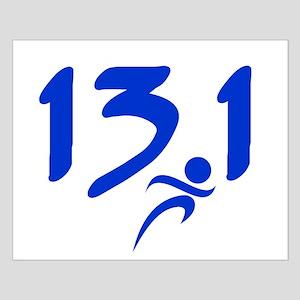 Blue 13.1 half-marathon Small Poster