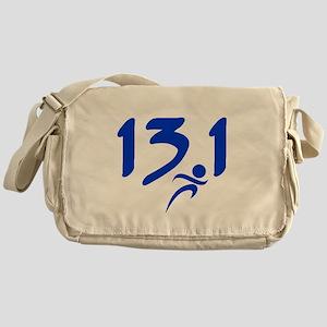 Blue 13.1 half-marathon Messenger Bag